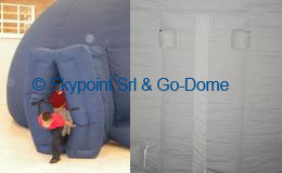 Airlock Door and velcro zipper flap