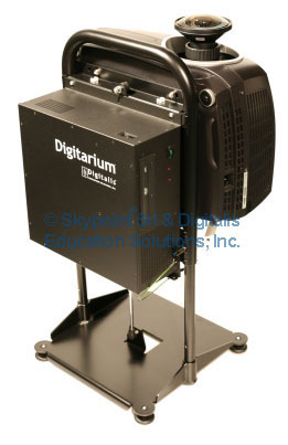 The Digitarium Epsilon Portable unit with the DLP fish-eye lens projector.