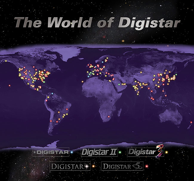 Presence of active E&S Digistar installations in all of the world.